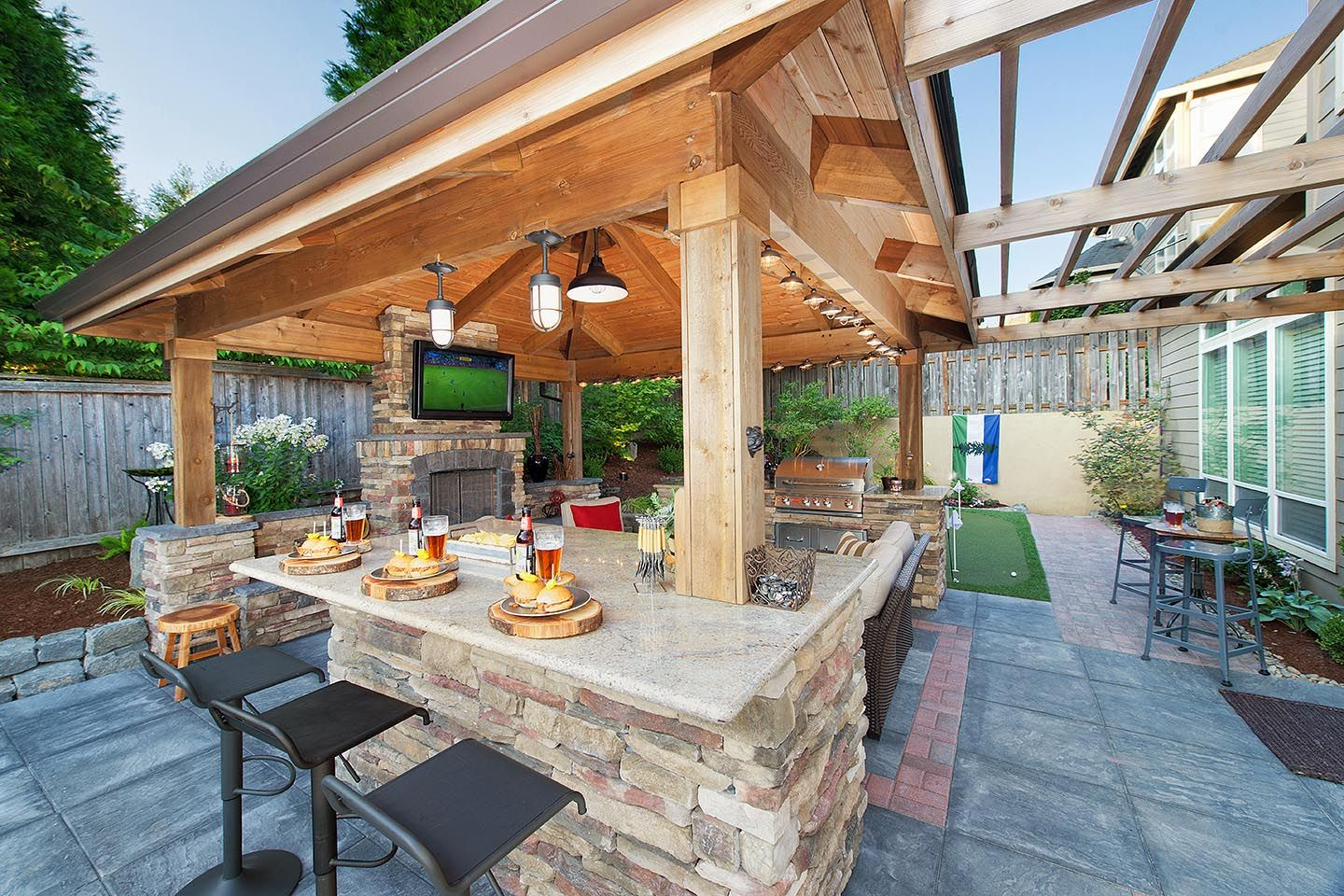 Backyard Landscape Design in 2020 Backyard patio designs