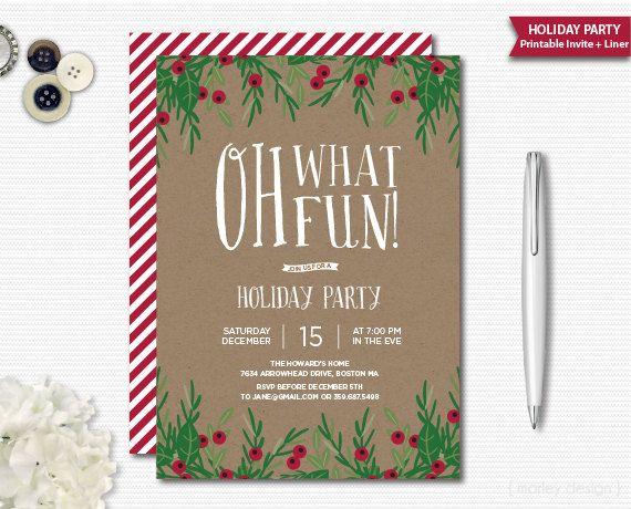 rustic christmas invitation oh what fun holiday invitation christmas
