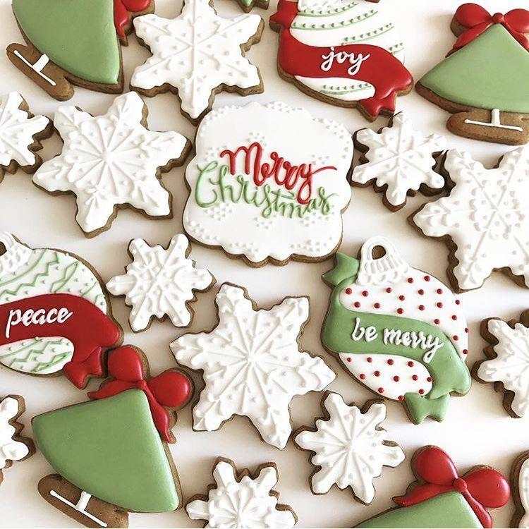 Snowflake Christmas Tree And A Cute Merry Christmas Cookies