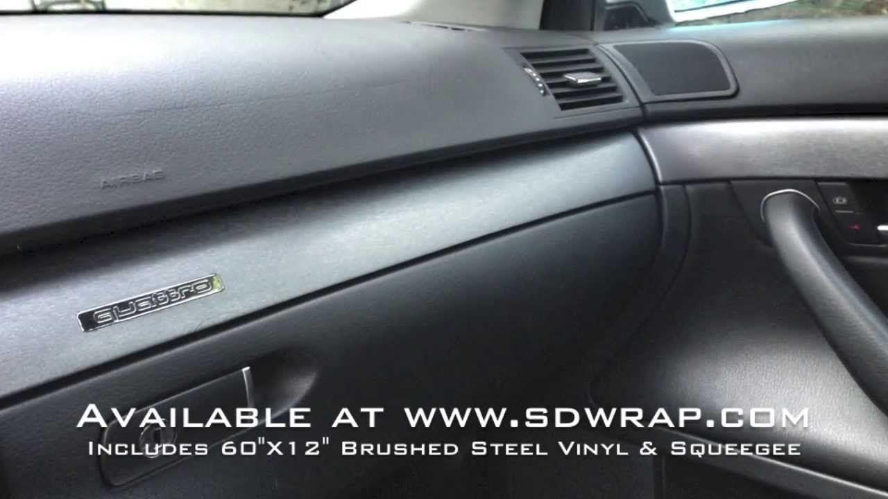 Brushed Steel Vinyl Interior Trim Wrap On An Audi A4 Interior Trim Audi A4 Brushed Steel
