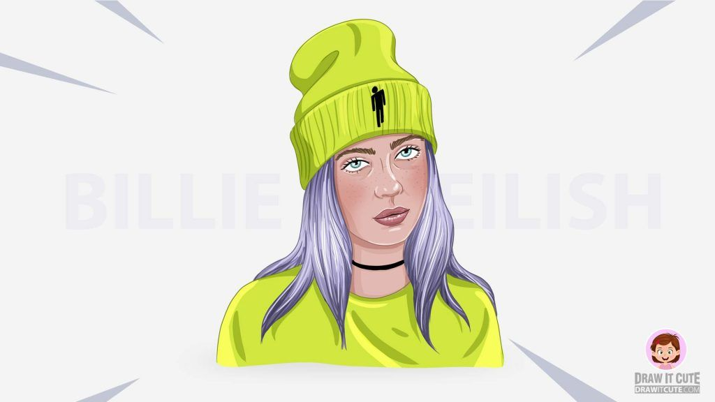 How To Draw Billie Eilish Draw It Cute Billie Eilish Billie