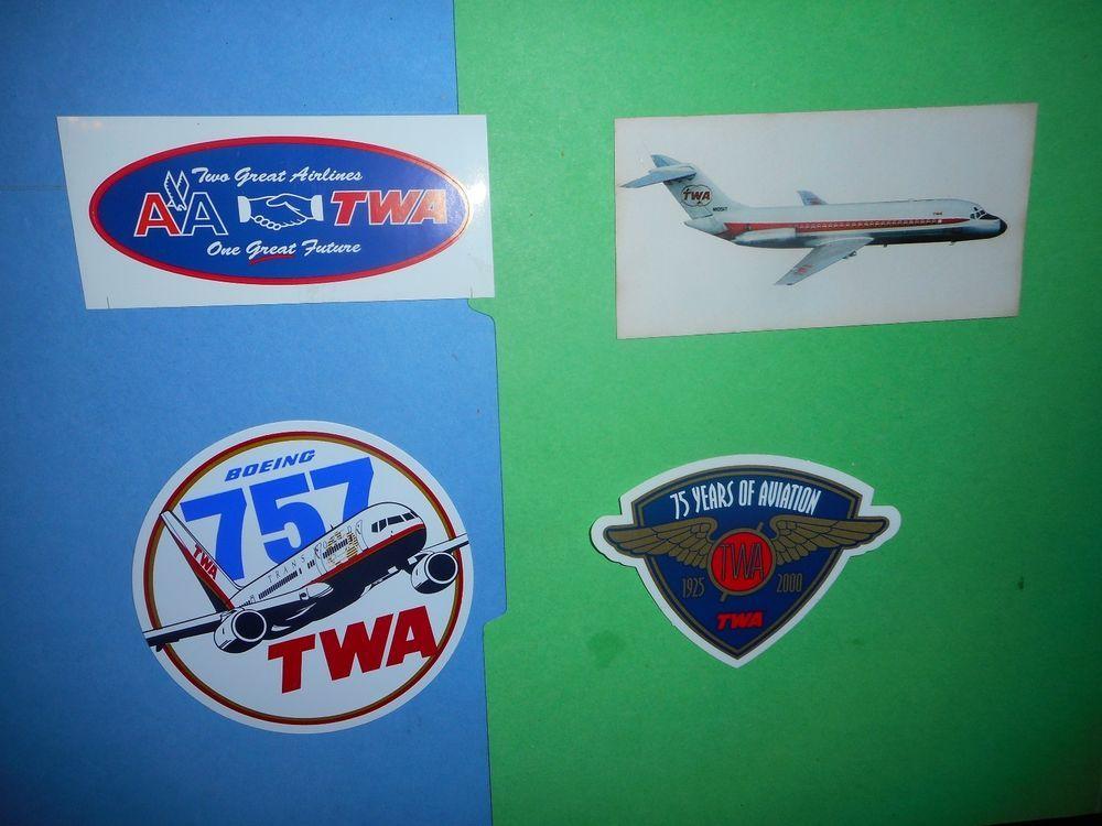 Autocollant Sticker Autocollant Adesivi Aufkleber Bumper Twa Airline Vintage