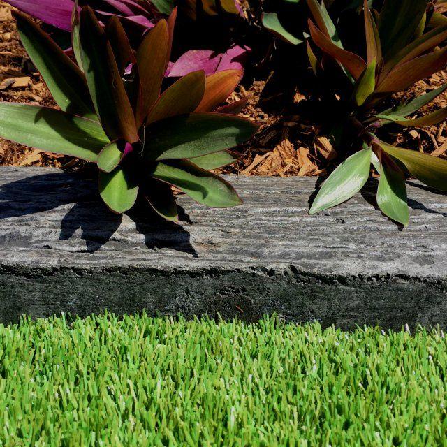 Gumnut Outback Garden Edging Timber-Look Charcoal 700x125x75mm - Western  Landscape Supplies - WLS - Gumnut Outback Garden Edging Timber-Look Charcoal 700x125x75mm