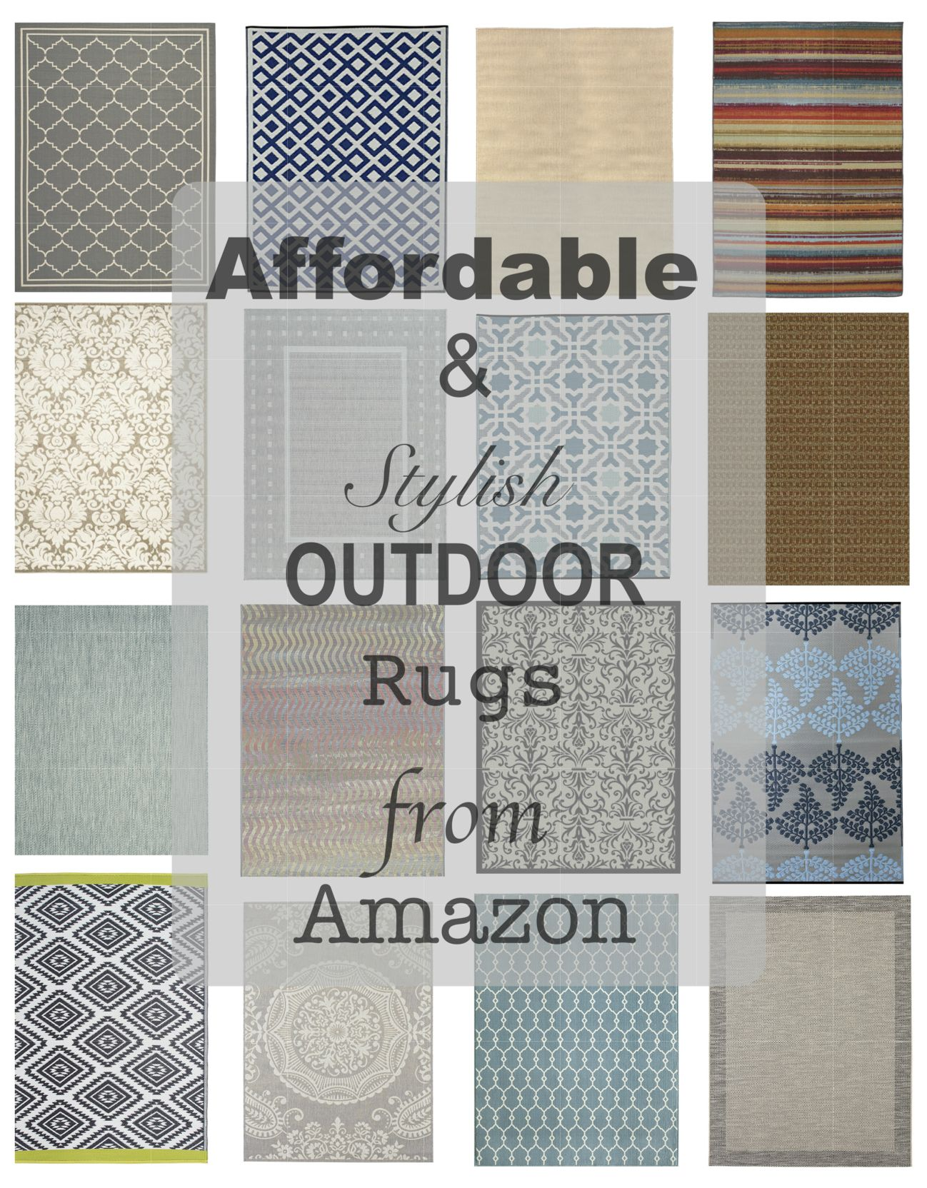 Outdoor Rugs.  Perfect Rugs for your porch or patio.  Porch rugs. Patio Decor. Outdoor living space.  Affordable rugs.  Amazon finds. #outdoorrugs