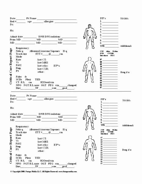 Nursing assessment Documentation Template Unique Nursing