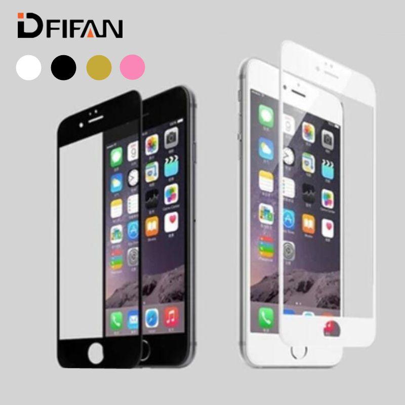 새로운 도착 3d 곡선 전체 커버 강화 유리 iphone 7 plus 7 + 7 플러스 화면 보호기, 화이트 블랙 골든 로즈 색상