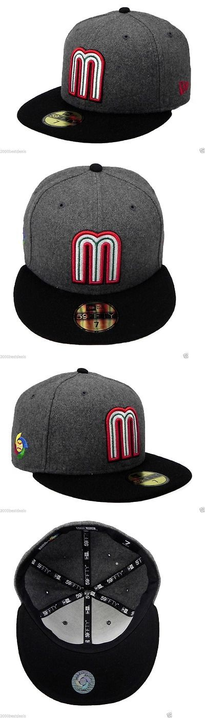 e8ad525add445 Hats 52365  New Era 59Fifty Cap Mexico World Baseball Classic Viscose  Charcoal Fitted Hat -