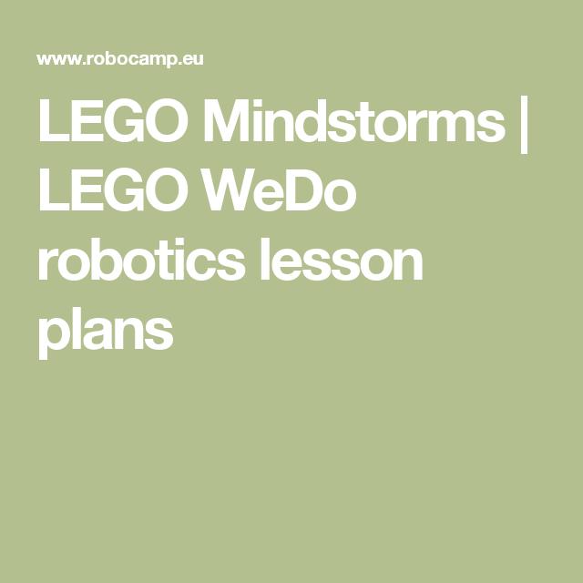 LEGO Mindstorms   LEGO WeDo robotics lesson plans   Homeschool ...