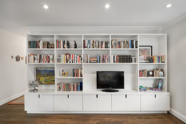 Nice Living Room Media Storage Part - 4: Upper East Side Apartment With Custom Storage Wall · Storage ChestStorage  ShelvingMedia StorageLiving Room ...