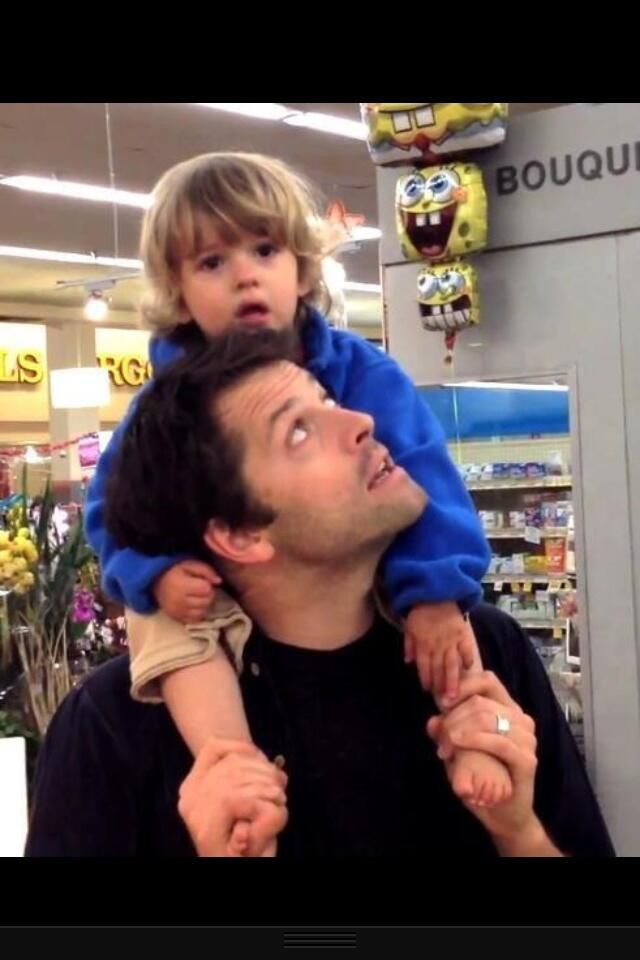 The Gorgeous father & son duo of Misha Collins & his son ...