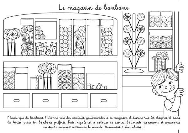 Coloriage A Imprimer Bonbon.Coloriage A Imprimer Le Magasin De Bonbons Coloriage De Disney
