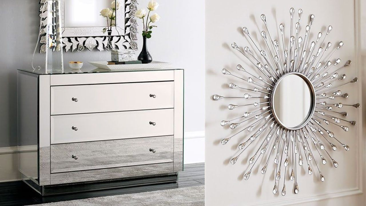 DIY Mirrored Furniture - DIY ROOM DECOR! Easy Crafts Ideas at Home ...