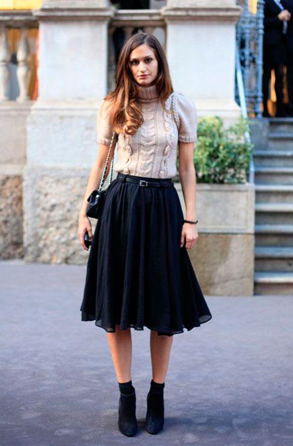 Midi skirt inspiration #cafeaudeux