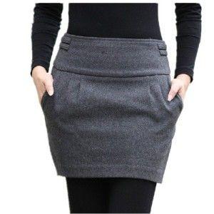 falda gris corta  b21ca4b07f35