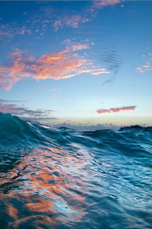 Soft Reflections Ocean Waves Scenery