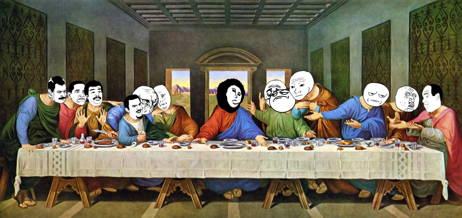 Mask Supper With Images Last Supper