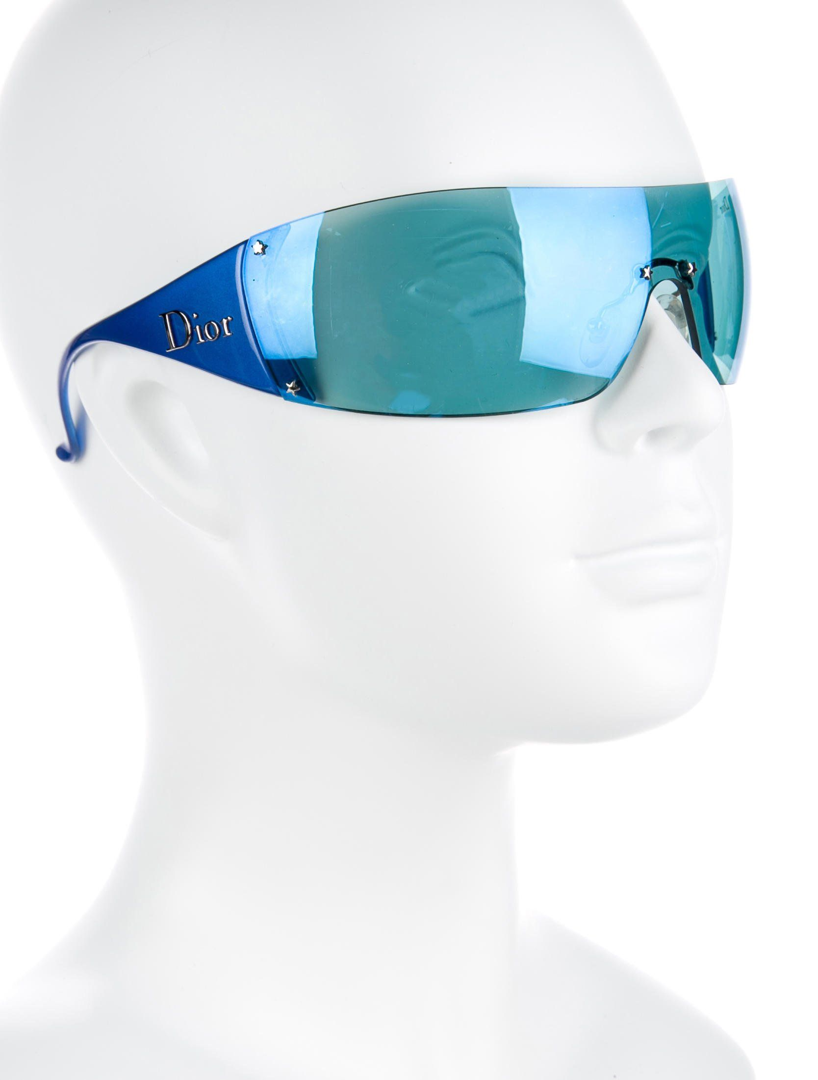 5063ad14374b0 Cobalt acetate Christian Dior Golf shield sunglasses with tinted lenses