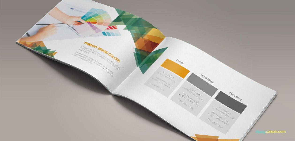 Primary Brand Colors - Branding Guidelines Template | ZippyPixels ...