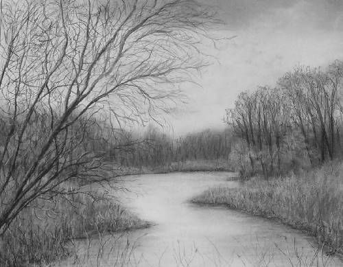 Landscape And Architecture Gallery Landscape Pencil Drawings Art Drawings Beautiful Landscape Drawings