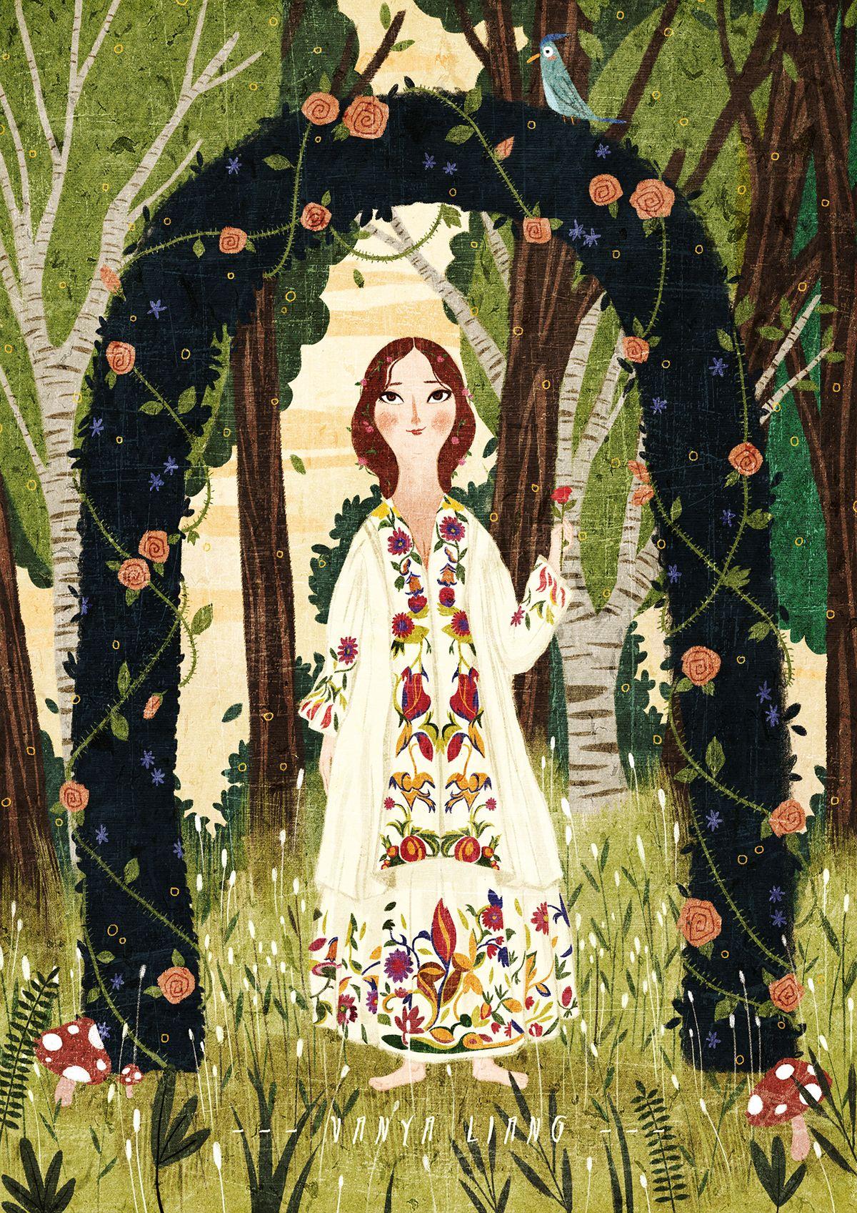 The Secret Garden on Behance in 2020 Illustration art