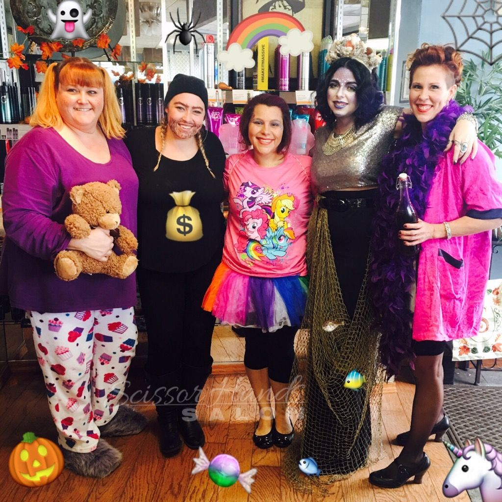 Happy Halloween from our staff here at Scissor Hands Salon! We hope you enjoy a fun and safe holiday!