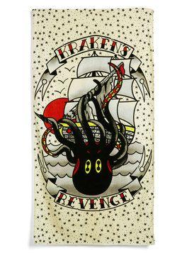 Let S Get Kraken Beach Towel Modcloth Release The Kraken Beach