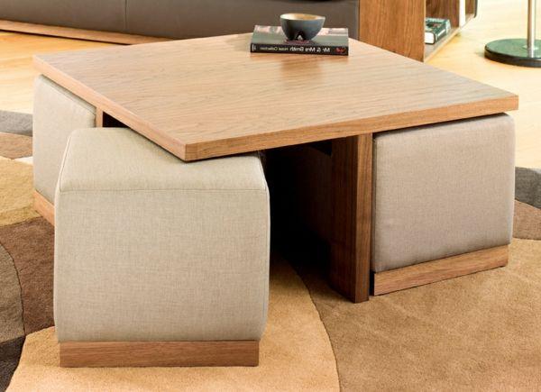 La Table Basse Avec Pouf Pour Un Style De Vie Moderne Archzine Fr Table Basse Pouf Mobilier De Salon Idees De Meubles