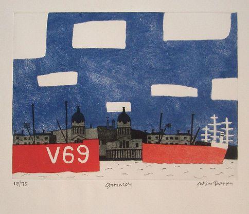 Julian Trevelyan print for sale: Greenwich (1969) | Drawing 4 ...