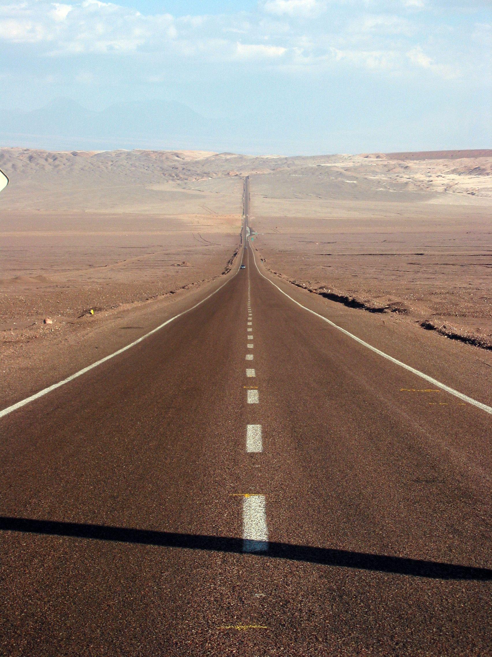 Long Road Desert Road Trip Photography Beautiful