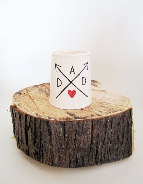 Dad Mug handmade and painted by Bear in Mind Design Stoke on Trent