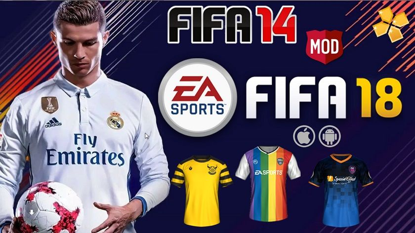 FIFA 14 MOD FIFA 18 PPSSPP for Android and iPhone 100