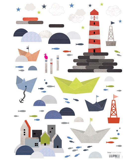 lilipinso Wandsticker Leuchtturm - rokdoubledot