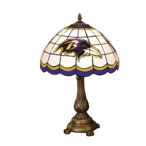 Nfl Baltimore Ravens Tiffany Table Lamp By The Memory Company