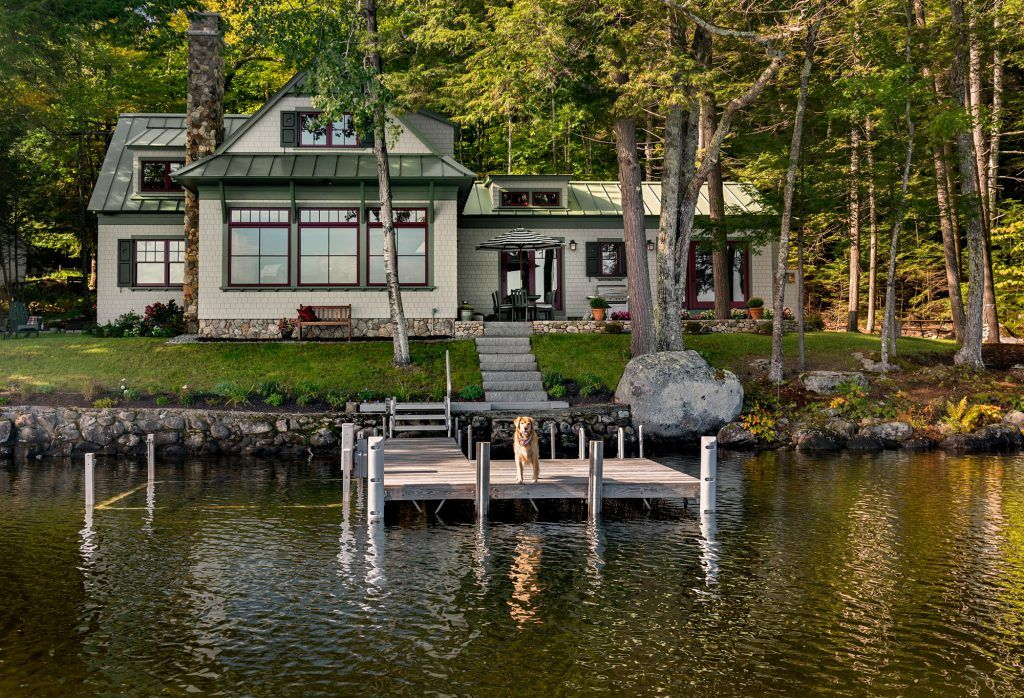 By the water maine lake house lake houses exterior