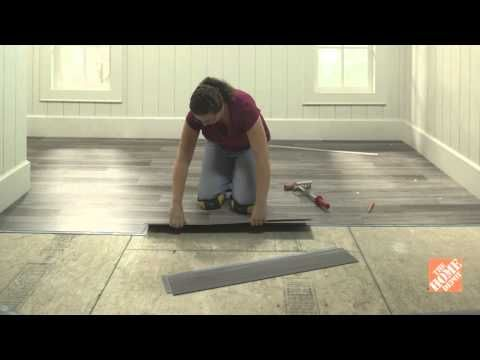 Installing Self-Stick Vinyl Tiles - Laying Out a Vinyl Tile Floor at ...