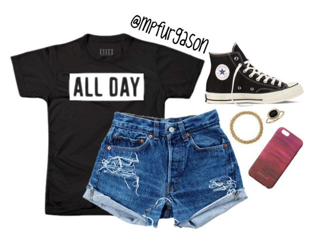 """All Day"" by mpfurgason on Polyvore featuring Converse, Meredith Frederick, Blue Nile, Levi's, Jigsaw, women's clothing, women, female, woman and misses"