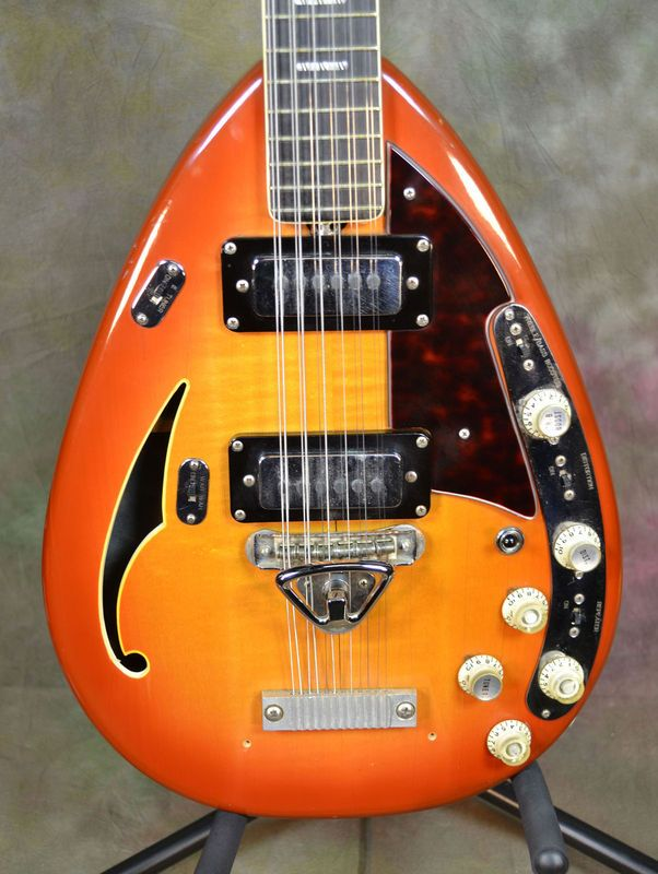 1968 Vox Starstream XII 12 String Hollow Electric Guitar OHSC ...