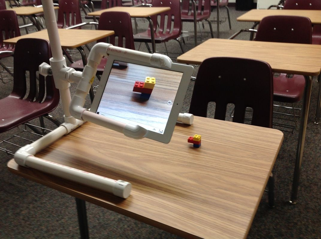 DIY iPad Document Camera stand adjustable height
