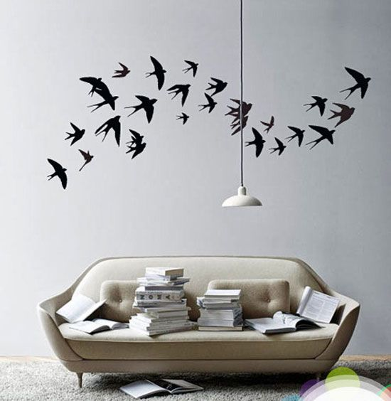 Image of: wall decor stickers cherry blossoms