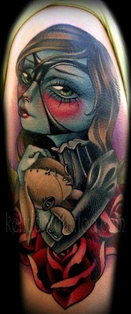 Doll Tattoo Zombie Girl Tattoos Girl Tattoos Tattoos