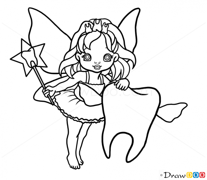 - How To Draw Tooth Fairy, Fairies - How To Draw, Drawing Ideas, Draw  Something, Drawing Tutorials Portal Teeth Drawing, Fairy Coloring Pages,  Fairy Drawings