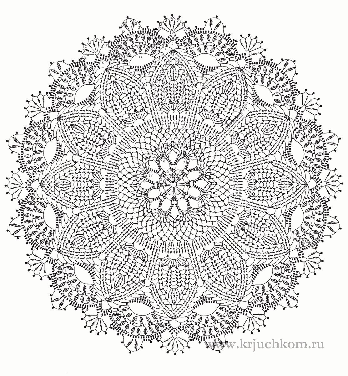 Простейшие схемы вязания салфеток 15