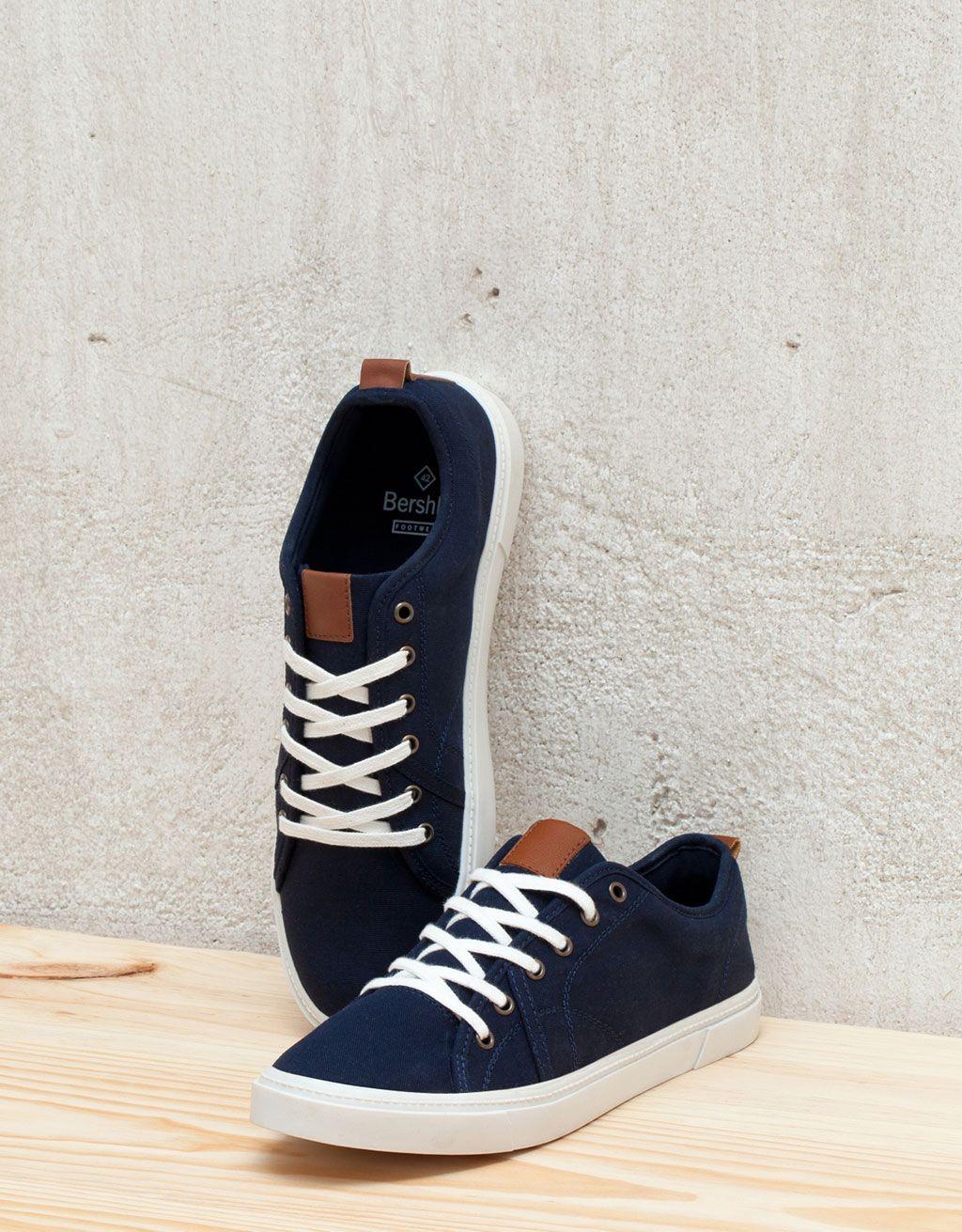 cheaper 9073d e4356 Men s fabric sneakers - View All - Bershka Romania Trendy Mens Shoes, New  Shoes,