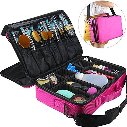 02835a09a MLMSY Makeup Train Case 3 Layers Cosmetic Organizer Beauty Artist Storage  Brush Holder Makeup Artist Art