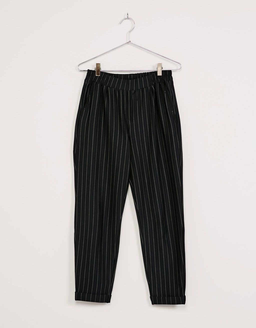 70dd96dc47db Tailoring pleat front jogger pants - Trousers - Bershka Ukraine ...