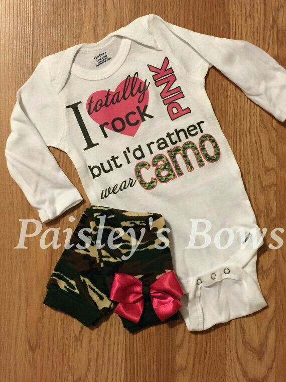 Baby Girl Camo Clothes In Case Of Girl  Baby Pennington  Pinterest  Babies Babies