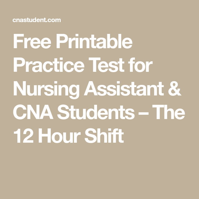 photograph about Printable Cna Practice Test identify No cost Printable Teach Try out for Nursing Assistant CNA