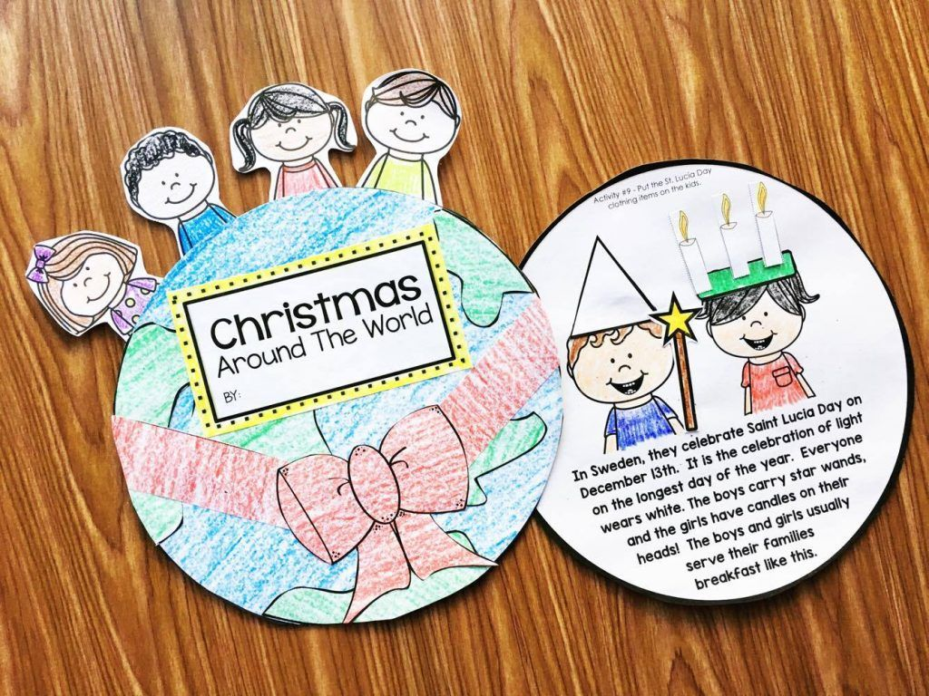 Christmas Around the World Books Kindergarten, Books and