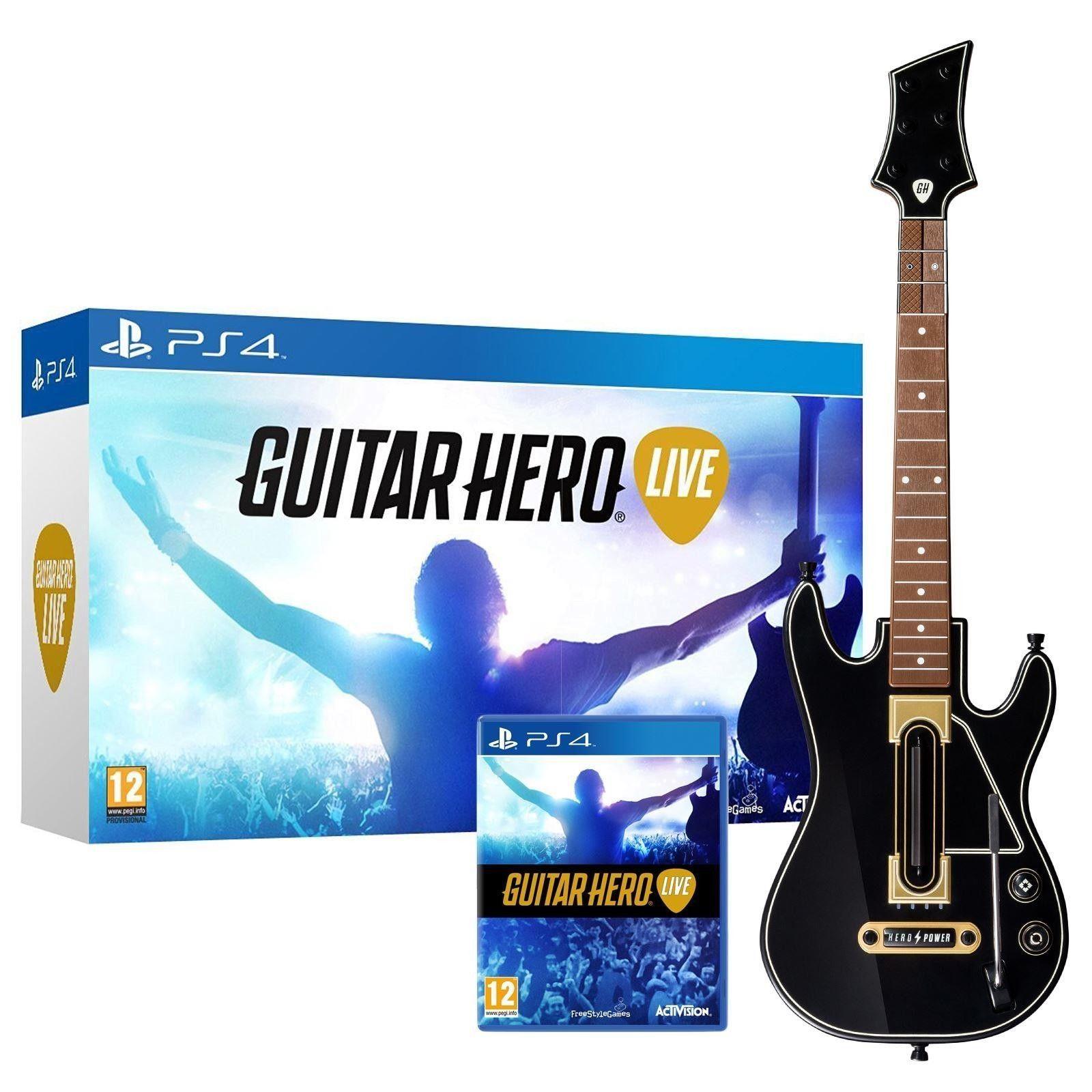 Sony Ps4 Guitar Hero Live Wireless Guitar Bundle Game Set Kit Playstation 4 Guitar Hero Live Guitar Hero Guitar