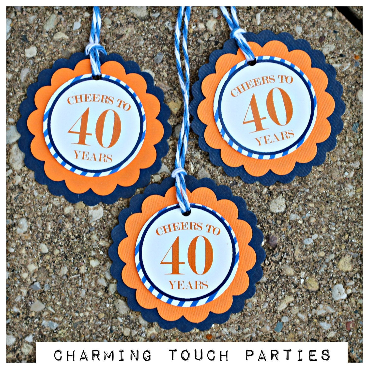 40th Birthday Favor TagsCheers to 40 YearsMilestone Party